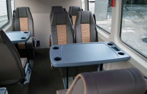 VIP bus Taxi Groningen interieur